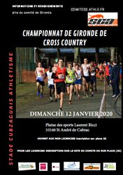 POUSS'CROSS EA PO: au championnat de Gironde de cross country